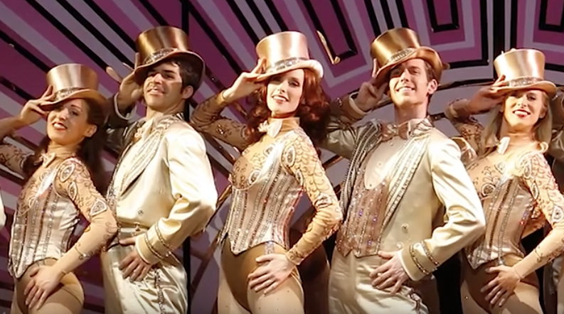 Emily Fletcher (center) in A Chorus Line